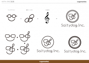 Saltydogロゴ案